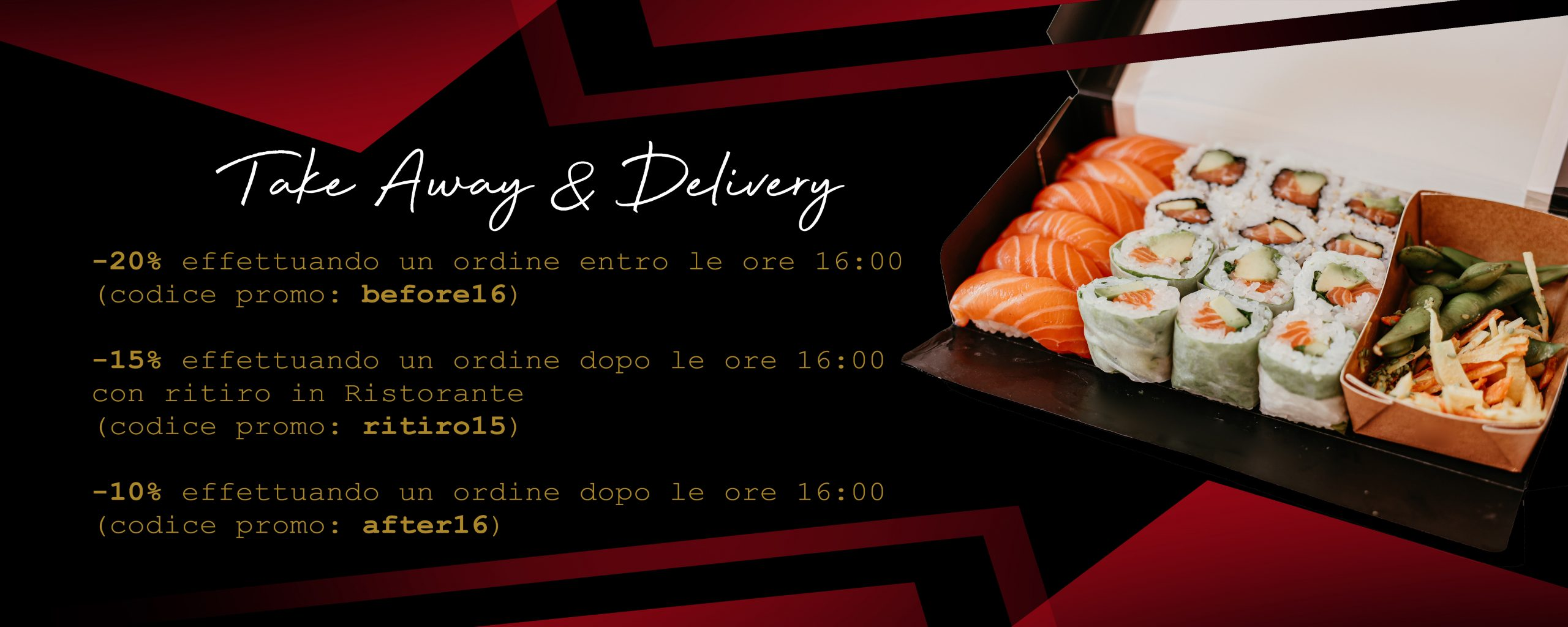Sushi restaurant one. take away e delivery
